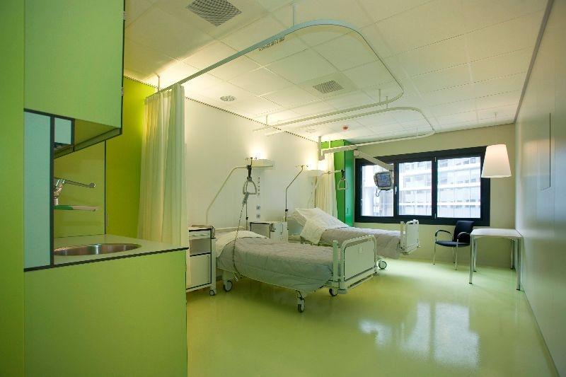 Raumtrennschienen für Krankenhäuser